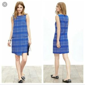 Banana Republic Blue Jacquard Dress 2